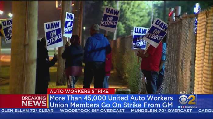 GM Auto Workers Go On Strike