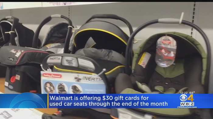 Walmart Offering $30 Gift Cards For Used Car Seats