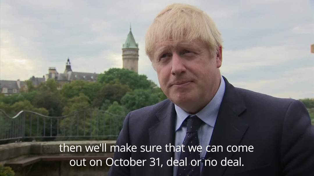 Boris Johnson can 'see the shape' of a Brexit deal
