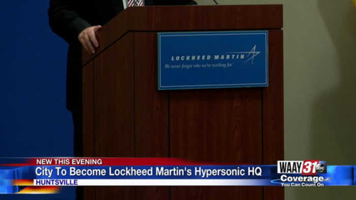 City To Become Lockheed Martin's Hypersonic HQ