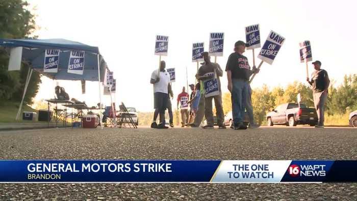 Brandon GM workers on strike