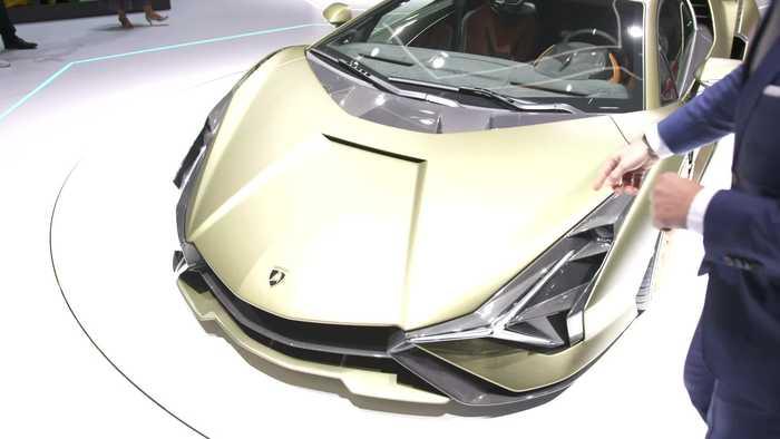 Mitja Borkert, Head of Centro Stile, presents the new Lamborghini Sián FKP 37