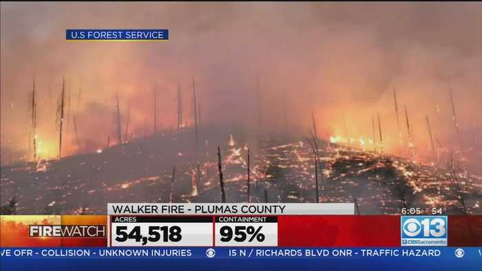 Walker Fire In Plumas County Close To Full Containment