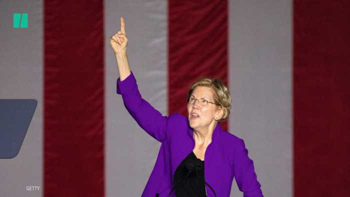 2020 Candidate Elizabeth Warren Tears Into President Donald Trump