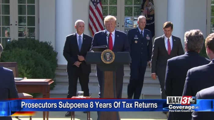 Subponea For Trump Taxes