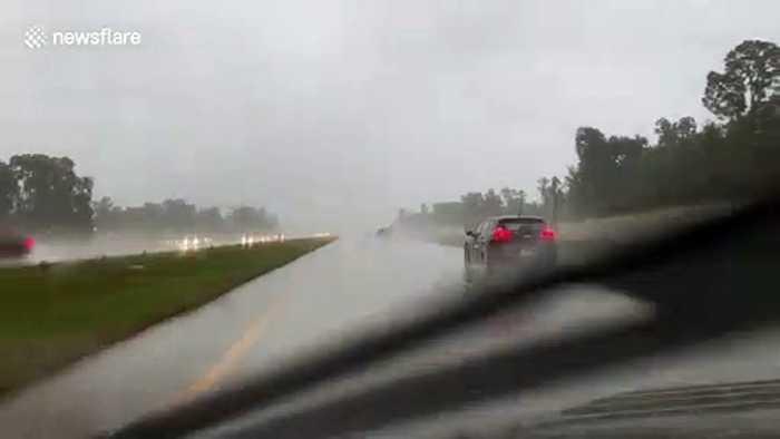 Heavy rain batters Houston as Tropical Storm Imelda approaches