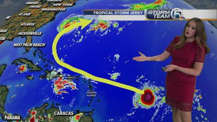 Tropical storm Jerry forms in the Atlantic; Imelda bringing heavy rains to Texas