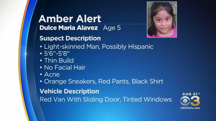 Amber Alert Issued For 5-Year-Old Dulce Maria Alavez