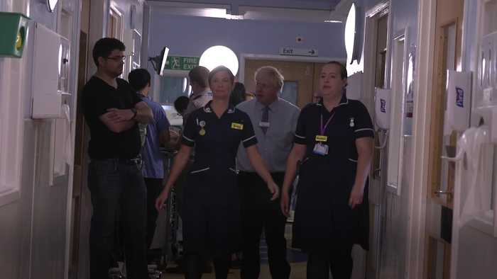 Angry parent stops Boris Johnson on hospital visit