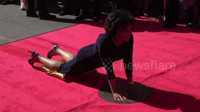 Dame Shirley Bassey unveils handprints at 'Square of Fame' in London