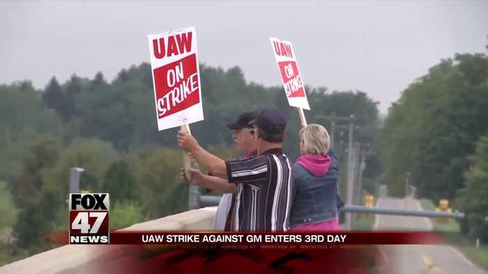 UAW strike stretches into third day