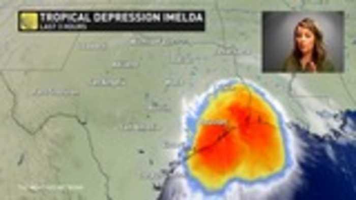 Texas coast: 100 mm of rain per hour with Tropical Depression Imelda