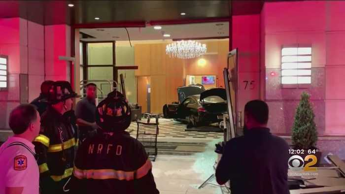 Car Crashes Into Lobby Of Trump Plaza In New Rochelle