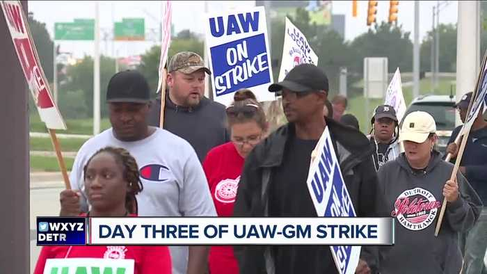 Day 3 of UAW-GM strike