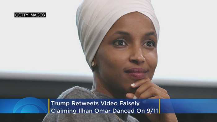 Trump Retweets Video Falsely Claiming Ilhan Omar Danced On 9/11