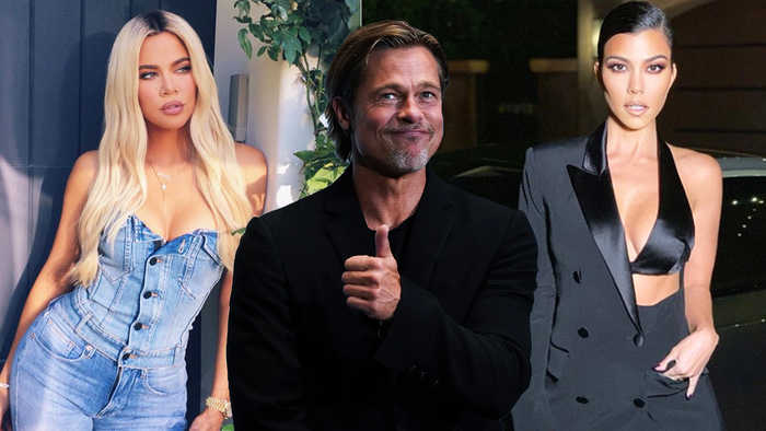 Khloe And Kourtney Kardashian Fighting Over Brad Pitt In Alleged Love Triangle!