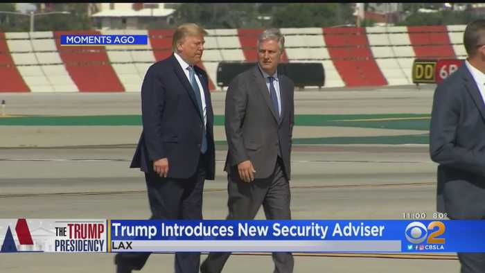 President Trump Introduces New National Security Adviser Before Leaving LA
