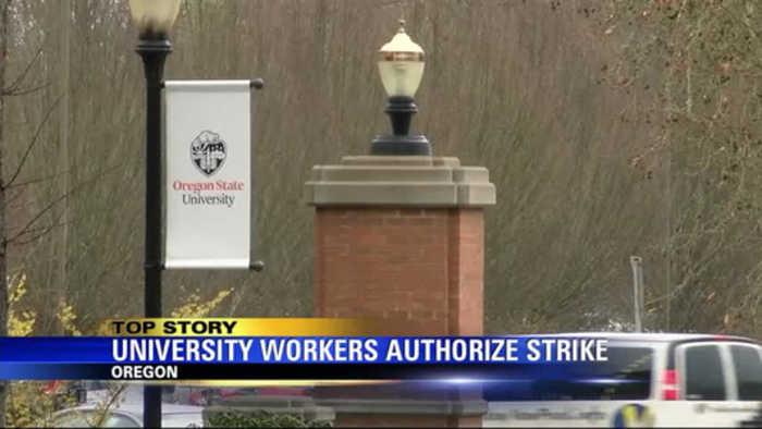 Oregon public university workers authorize strike