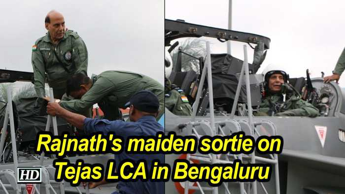Rajnath's maiden sortie on Tejas LCA in Bengaluru