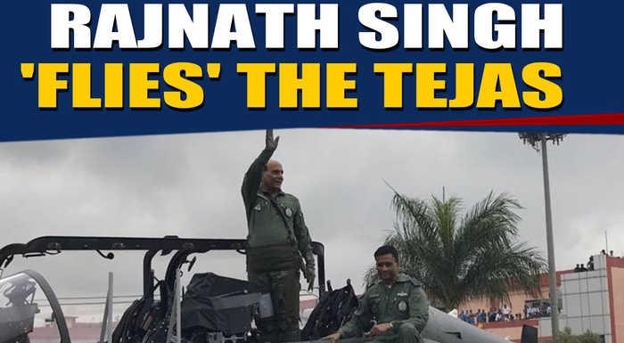 Rajnath Singh flies Tejas, takes control for a while  |OneIndia News