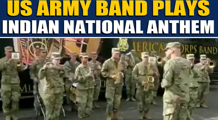 US army band plays Indian National Anthem, video goes viral | Oneindia News