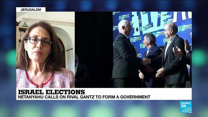 Netanyahu calls on rival Gantz in Israel elections:
