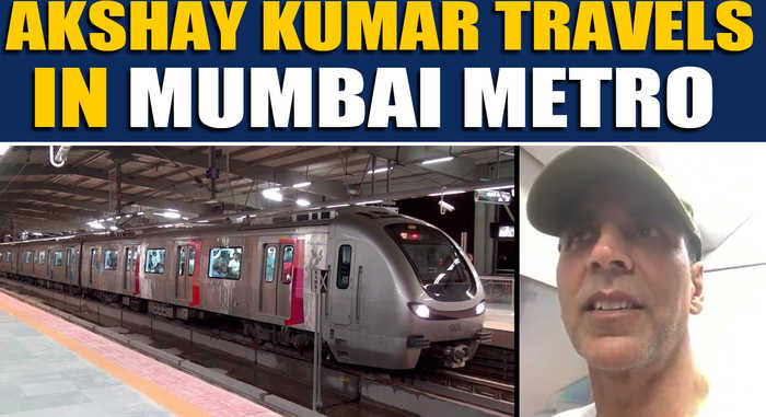 Akshay Kumar beats Mumbai traffic by travelling in the metro, video goes viral