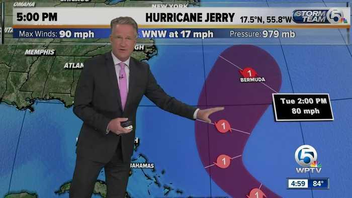5 p.m. Thursday Hurricane Jerry update