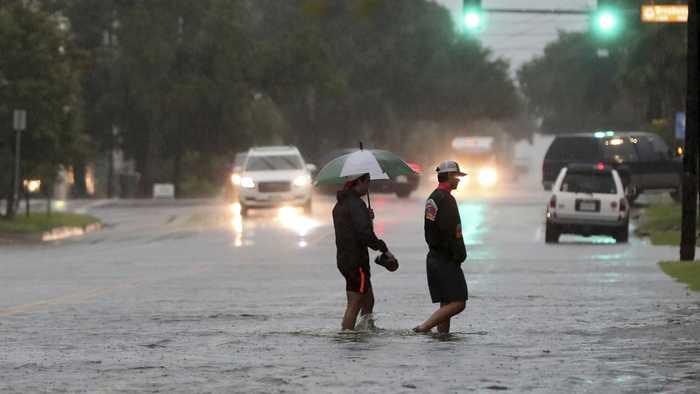 Tropical Depression Imelda Causes Flash Flooding In Texas