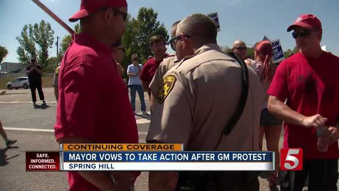 Mayor vows to take action in GM protest