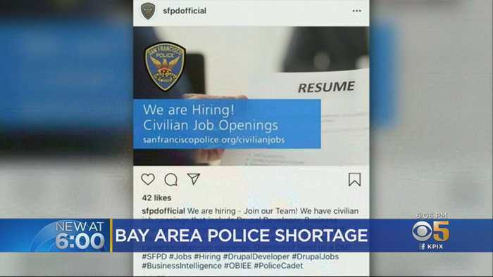 Bay Area Cop Shortage Prompts Police Departments To Entice Rookies With Cash