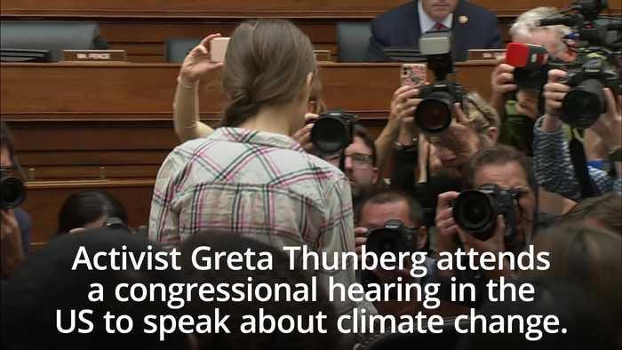 Greta Thunberg tells Congress to 'listen to scientists'