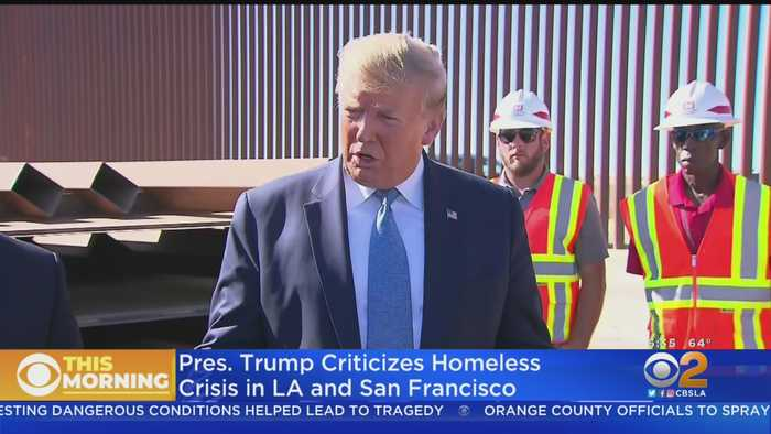 President Trump Takes aim At California's Homeless Crisis, Vehicle Emissions Standards