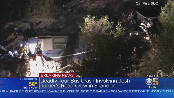 1 Dead In Tour Bus Crash Involving Josh Turner Road Crew In San Luis Obispo County