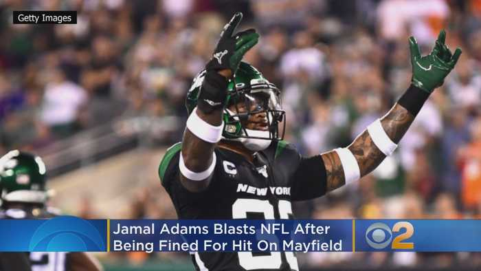 Jets' Adams Blasts NFL After Being Fined For Hit On Mayfield