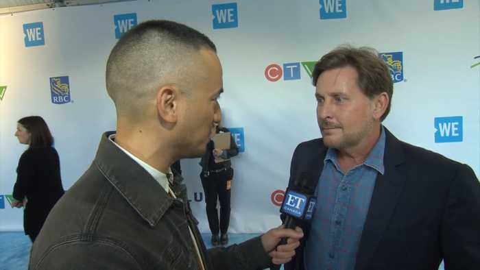 Emilio Estevez On Being A Rockstar At WE Day