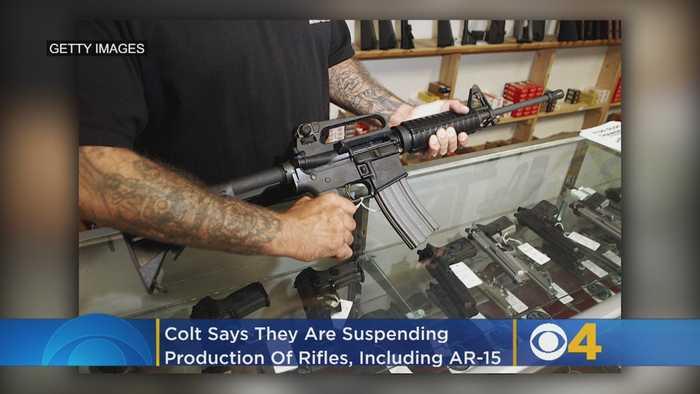 Gunmaker Colt Suspends Production Of AR-15 Rifles For Civilian Market