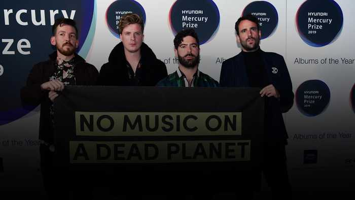 Mercury Prize nominees Foals in show of support for Extinction Rebellion