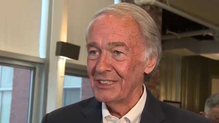 Sen. Markey meets with voters as Rep. Kennedy prepares primary challenge