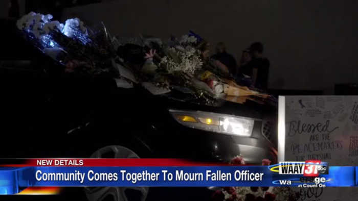 Community Comes Together To Mourn Fallen Officer