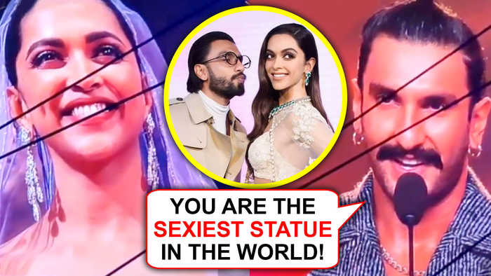 IIFA 2019 | Ranveer Singh PRAISES Deepika Padukone's Wax Statue