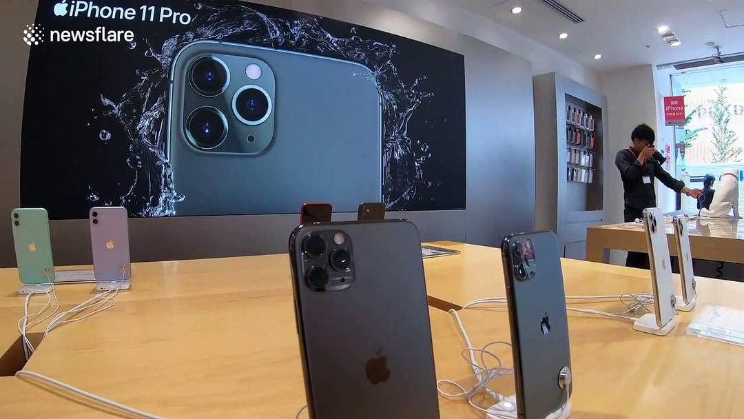 Apple's new iPhone 11 models go on sale in Japan