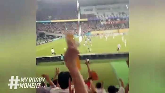 Japan fan cam v Russia _ Rugby World Cup 2019