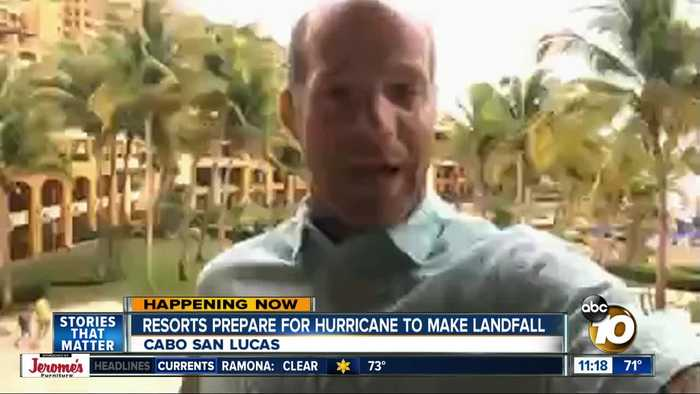 10News reporter describes situation in Cabo San Lucas as Hurricane Lorena approaches