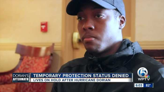 Temporary protection status denied - lives on hold after Hurricane Dorian