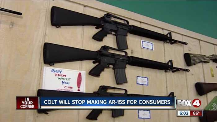 COLT gun maker halts production of AR-15 for civilians