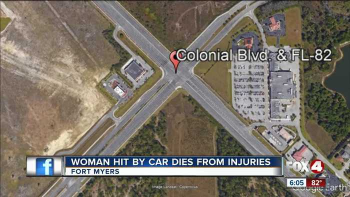 Woman who was hit by vehicle dies from her injuries in Fort Myers