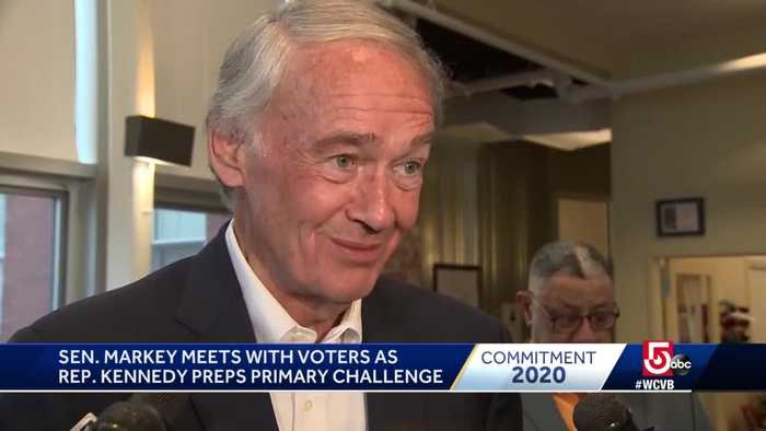 Sen. Markey welcomes Rep. Kennedy to campaign