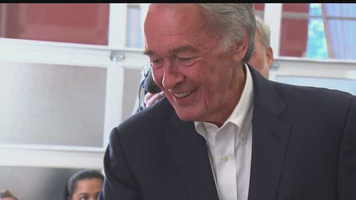 Sen. Markey Welcomes Joe Kennedy To Campaign Trail