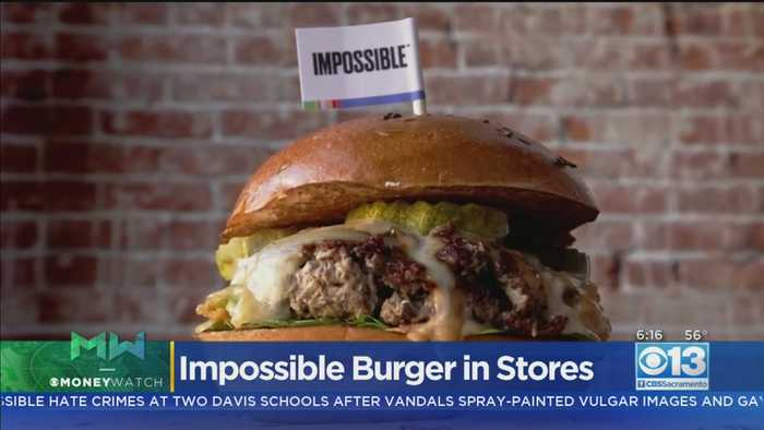 Moneywatch: Impossible Meat Making Its Grocery Store Debut